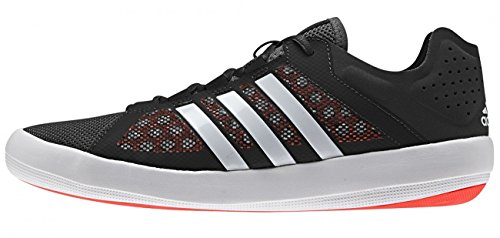 Adidas sailing Tack TA01Boat Chaussures bateau voile Homme   Noir Black/ White/ Solar Red