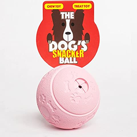 The Dog's Snacker Ball, a 7.5cm Premium Dog Treat Ball, Tough Activity Rubber Chew Toy, Fill With Your Dog or Puppy's Favorite Treat, The King Kong of Dog Stuff It Balls