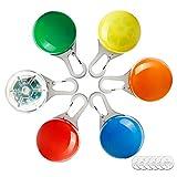 Toozey Blinklicht Schulranzen Hundehalsband Licht - Leuchthalsband Leuchtanhänger Hund - 3 Blinkmodi für Läufer, Radfahrer, Draussen, Nachtwandern - Anschnallen- 6 STK