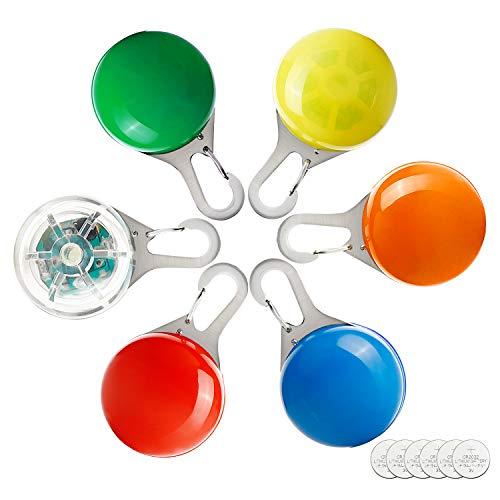 Toozey LED Collier Lumineux pour Chiens - Collier de lumière pour Chien Collier de Chien Clignotant - 3 Modes de clignotement pour Coureurs, Cyclistes, promenades Nocturnes - Sécurité et étanchéité