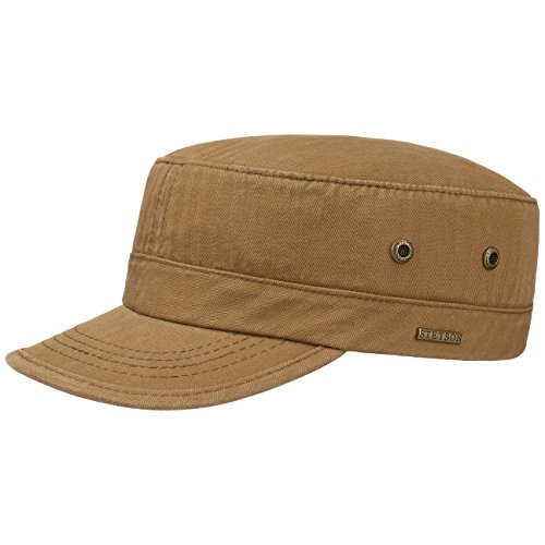 cappellino-army-cotton-stetson-cotton-cap-cap-s-54-55-marrone-chiaro