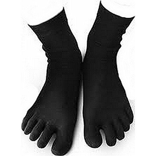 Vibram FiveFingers Herren Wool Blend Crew Socks, Black, L