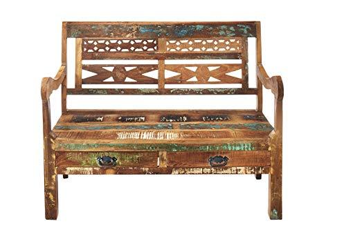 Kobolo Einzigartige Holzbank Vintage aus FSC zertifiziertem Holz