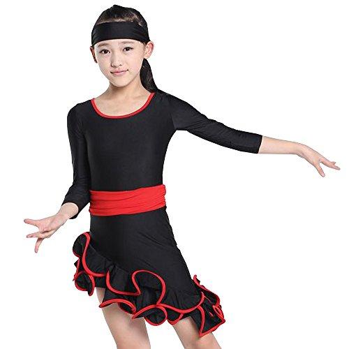 KINDOYO Mädchen Kinder Tanz Kleidung Moderne Latein Tanzkleid -
