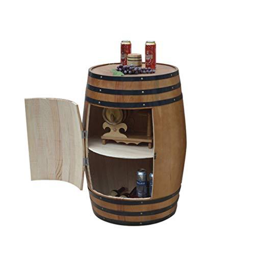HQCC Eichenfass Weinkühler, Bar dekoriert Bierfaß, Holz Weinregal, Familienwein Vorratsbehälter...