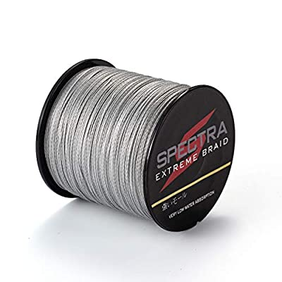 Times Spectra Extreme Braid Braided Fishing Line 6-300LB Test 100m-2000m Gray by sanli
