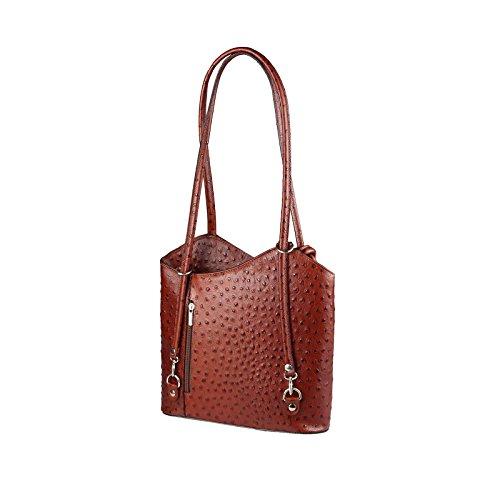 OBC Only-Beautiful-Couture, Borsa a zainetto donna Rosa rosa chiaro 27x29x8 cm (BxHxT) Marrone (Strauss)