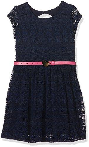 Yumi Lace with Heart Belt, Vestito Bambina, Blu (Navy), 11-12 Anni