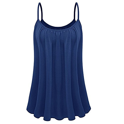 Pudel Bluse - Zegeey Damen Sommer TräGershirts Tank Tops