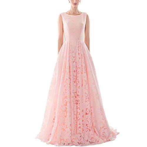 Brautkleider Hochzeitskleider A Linie BallGown Sweep Zug Spitze Brautkleid NaXY Hochzeit Prinzessin Kleid Rosa Size 38 (Prinzessin Sweep)
