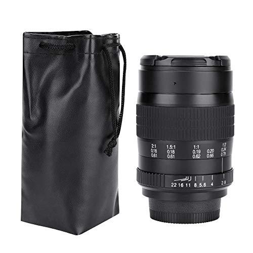 EBTOOLS 60mm F2.8 Messa a Fuoco Manuale Obiettivo Macro per Fotocamera Principale Full Frame per Attacco Canon-E F, per Attacco Nikon-F(per Canon)