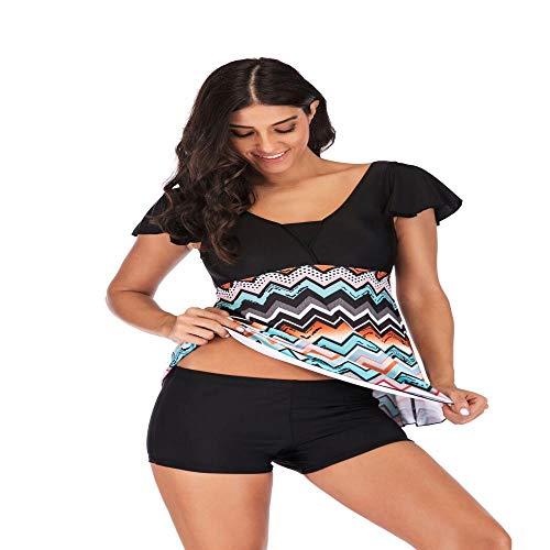 JNBUXUDM 2019 Fashion Hot Women Bandage Bikini Push-up Print Two-Piece Suits Backless Padded Bra Swimsuit Bathing Swimwear