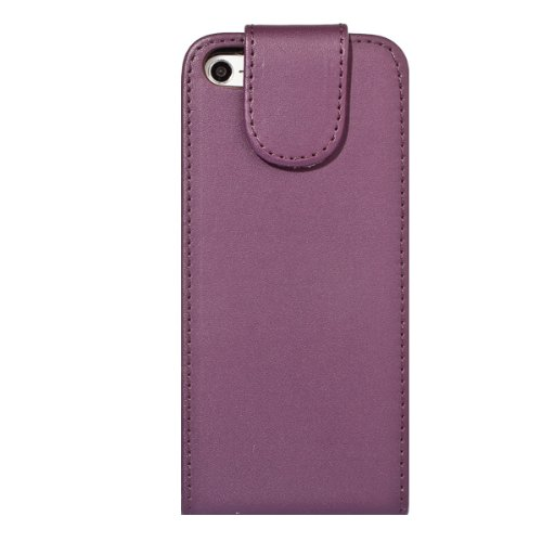 G4GADGET® Apple iPhone 5C Dark Blue Flip Wallet PU Leather Case Cover with Two Card slots For Apple iPhone 5C violet