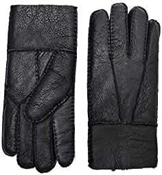 3be803b2621c82 YISEVEN Herren Lammfell Leder Handschuhe mit Warme Gefüttert, Robust