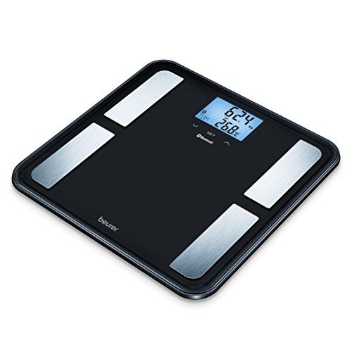 Beurer BF 850 Diagnosewaage mit extra großer Trittfläche, Vernetzung zwischen Smartphone und Waage, schwarz