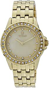 Titan Purple - Glam Gold Analog Mother of Pearl and Champagne Dial Women's Watch - 9798YM01J