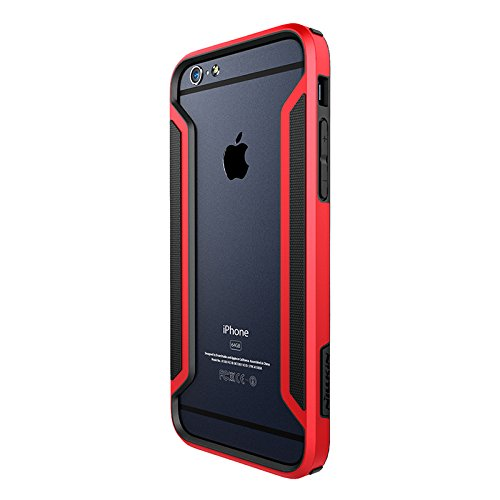 iPHONE 6 PLUS / 6S PLUS - SLIM ARMOR BORDER CASE [ ROT ] - HIGH TEC BUMPER - Cover, Hülle, Rahmen, powered by i-tecfox rot