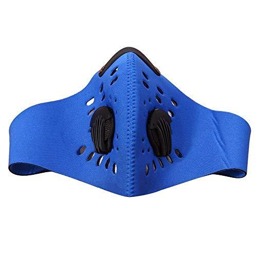 nstuch Gesichtsmaske,Mountain Bike Aktivkohlestaubmaske Fahrrad Außenreit Mask ()