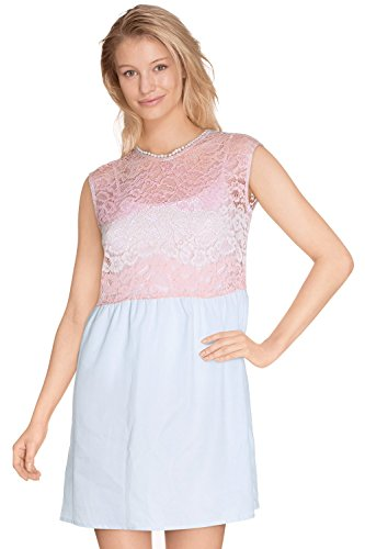 Cherry Paris – Promo Damen Tunika Kleid Kelly Farbverlauf in Floral Lace Gerades Bein Rosa - Rosé