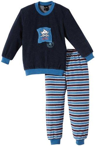 Schiesser Jungen Pyjama 135538-803, Gr. 116 (5Y), Blau (803-dunkelblau)
