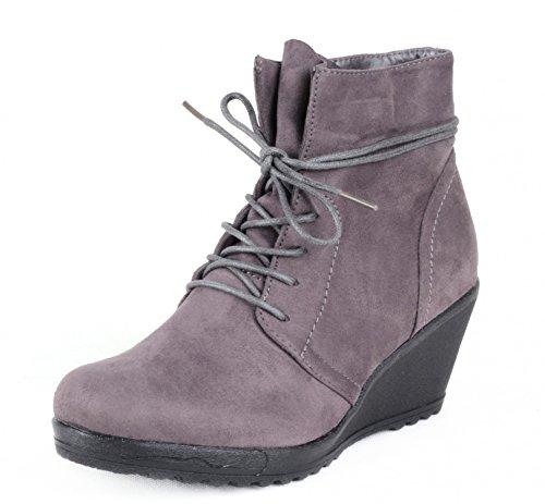 Mixmatch24 , Chaussures bateau pour femme Gris