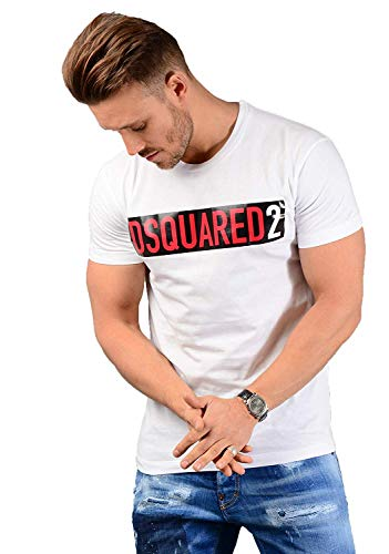 DSQUARED2 Herren S74GD0479 T-Shirt Weiß - Weiß, XL