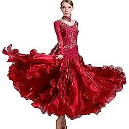df5edfca25b3 Nuova Danza Moderna Gonna per Le Donne Costumi di Prestazione Grande Swing Abiti  da Ballo Strass ...