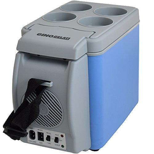 Gino Gelati 6 Liter 2 in 1 Mini Kühlschrank Kühlbox Warmhaltebox Campingkühlschrank 12 & 220 Volt, kühlt bis 25°C unter Umgebungstemperatur