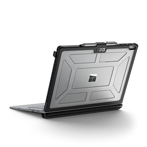 Preisvergleich Produktbild Urban Armor Gear Hardcase für Microsoft Surface Book - transparent [Microsoft zertifiziert / Lüftungsschlitzaussparungen / Pen Halterung / Stoßfest] - SFBK-ICE