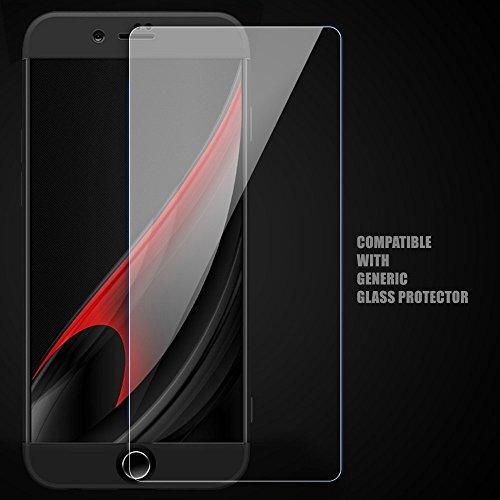 """iPhone 6s Plus Coque, WindCase 360 Degres Full body Housse 3 en 1 Anti-égratignures PC Intégrale Rigide Protection Case pour iPhone 6 Plus / 6s Plus 5.5"""" Noir + Protection en Verre Trempé Noir"""