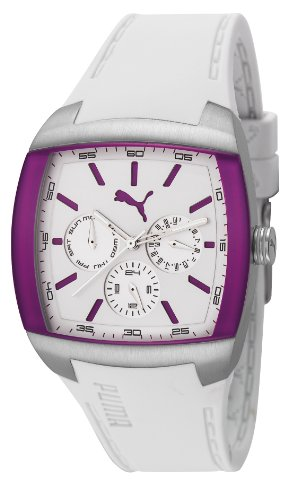 PUMA Motorsport PU102722003 - Reloj analógico de cuarzo unisex con correa de plástico, color blanco