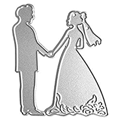 SODIAL(R) carbon steel wedding Cutting Stencil Scrapbook Paper Card Craft Embossing DIY