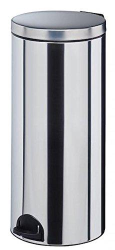 Poubelle à pédale Sanelia - seau antibactérien - 30l - inox aisi 304 (18/10)