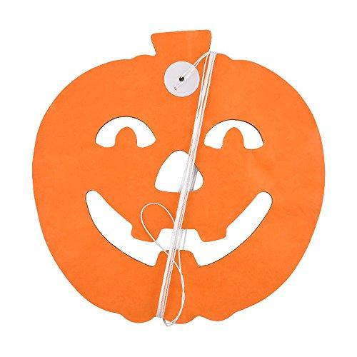Pinzhi Halloween Scary DIY Papier Girlande Geist Spinne Kürbis Schädel Hexe (Spinnen Geister & Swirl Dekorationen)
