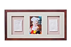 Baby Memory Prints Trio Frame (Mahogany)