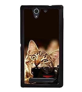 printtech Funny cat Camera Bite Back Case Cover for Sony Xperia C4 Dual E5333 E5343 E5363::Sony Xperia C4 E5303 E5306 E5353