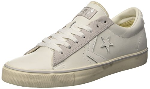 Converse PRO Leather Vulc Ox, Sneaker a Collo Basso Uomo, Bianco (White/Mouse/Turtledove), 43 EU