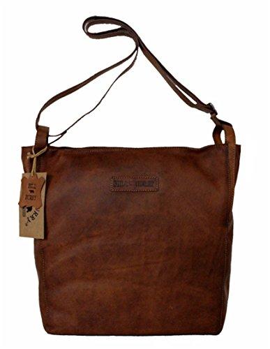 Leatherworld, Borsa tote donna, nero (nero) - 4250736211959 marrone