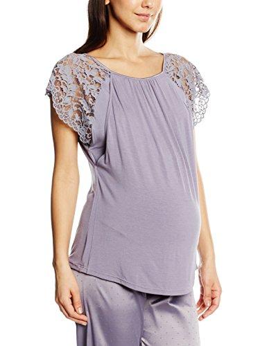 Cache Coeur Sofia, Haut de Pyjama Maternité Femme, Violet-Violet (Lilas), 46