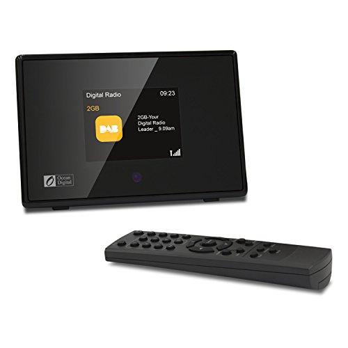 Ocean Digital DBA01C8 DAB / DAB + / FM Radio Tuner Bluetooth Empfänger mit 2,8 'TFT Farbdisplay - Schwarz