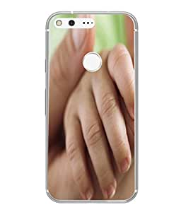 PrintVisa Designer Back Case Cover for Google Pixel XL (Assistance Caucasian Childhood Closeup Daughter Handhold Beautiful Isolated)