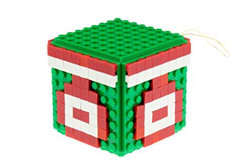 Strictly Briks | Dekorationsset für Weihnachten | 100 % kompatibel mit Allen führenden Marken | mit Band zum Aufhängen | 6 Bauplatten (8 x 8 Noppen) | 150 Pixel | Grün und Rot | 03 - Grün