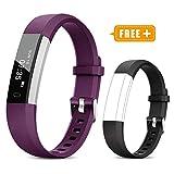 TOOBUR Fitness Armband für Kinder Damen, Schrittzähler Uhr Fitness Tracker mit Kalorienzähler, Wasserdicht Schmal Aktivitätstracker Armbanduhr mit Schlafmonitor und Vibration Wecker...