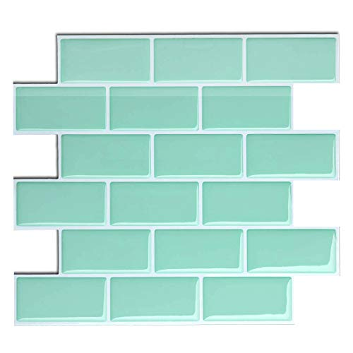 Fam Sticktiles Peel And Stick Tile Backsplash For Kitchen Bath Self Adhesive Tile Stickers Stick On Tiles Splashback 11 X 10 4 Sheet