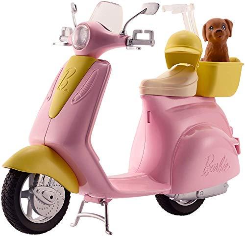 Offerte per Barbie Scooter e Cagnolino, Moto con Cucciolo e Casco, Bambola Non Inclusa, per Bambini 3 + Anni, FR...