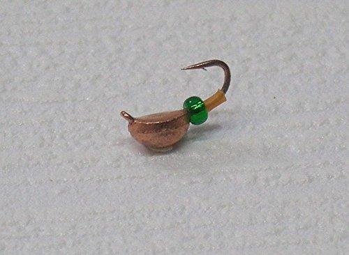 Mormyschka (Kupfer mit Grüner Perle) Eisangeln Eisangelköder