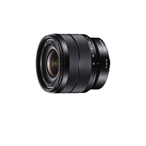 Sony E-objektiv 35 (Sony SEL-1018 Ultra-Weitwinkel-Zoom-Objektiv (10-18 mm, F4, OSS, APS-C, geeignet für A6000, A5100, A5000 und Nex Serien, E-Mount) schwarz)