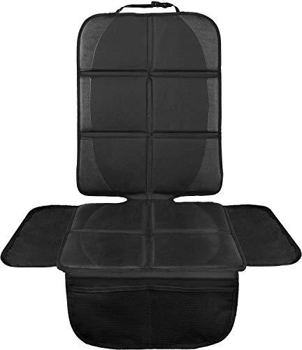 LIONSTRONG Kindersitzunterlage, ISOFIX geeignete Unterlage für Kindersitze, Sitzschoner zum Schutz Ihrer Autositze (Schwarz)