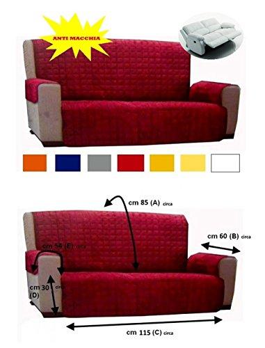 Copridivano copertura divano tinta unita anti macchia no elastico 2 posti vari colori