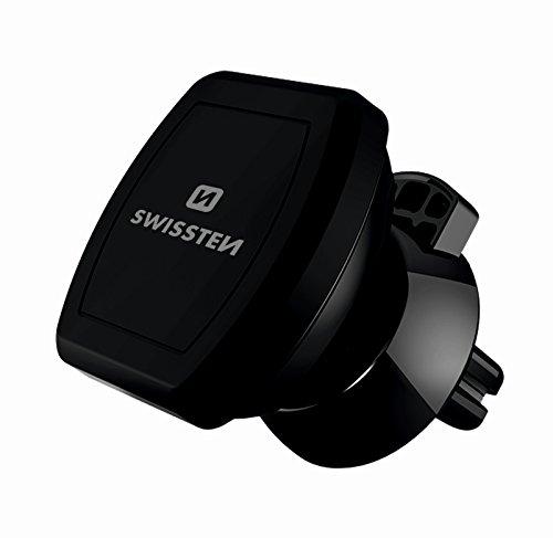 SWISSTEN Magnet Auto Lüftung Handyhalterung mit sehr starken Magneten, Autohandyhalterung universal für iPhone 7 / 6s / 6 / 5s / 5, Samsung Note 8 / Galaxy S6 u. jedes andere Smartphone oder GPS-Gerät